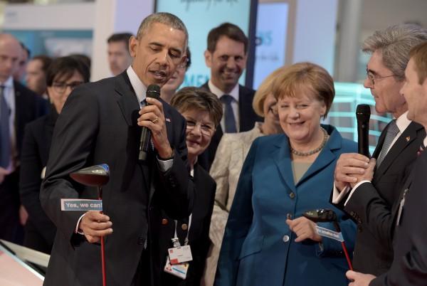 Eröffnungsrundgang der HANNOVER MESSE am Montag, 25. April 2016. (Siemens Hall 9/35) Quelle: Deutsche Messe
